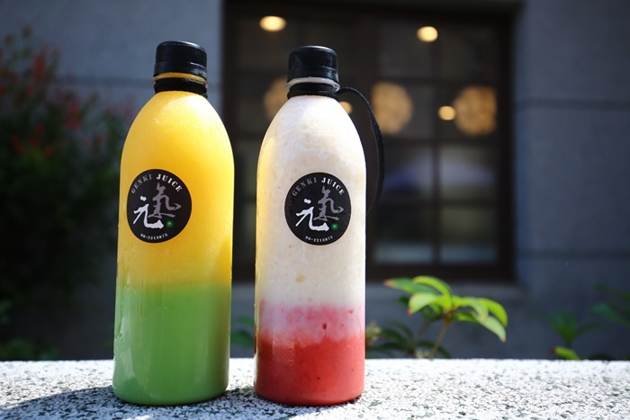 【台南安平美食】元氣果汁,漸層飲料色彩繽紛,超夯IG打卡飲料店