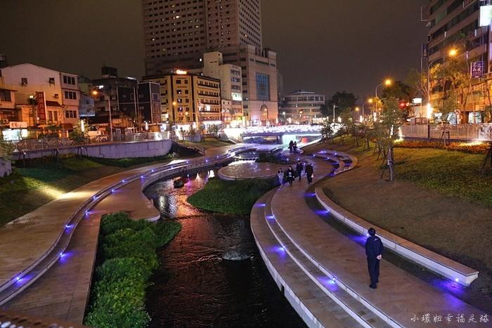 【台中夜景推薦】柳川藍帶水岸步道,臭水溝變身韓版清溪川!