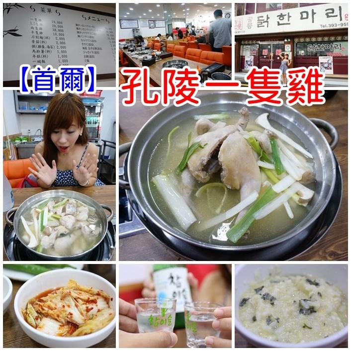 【首爾梨大美食】孔陵一隻雞(梨大分店),不輸陳玉華的好味道 @小環妞 幸福足跡