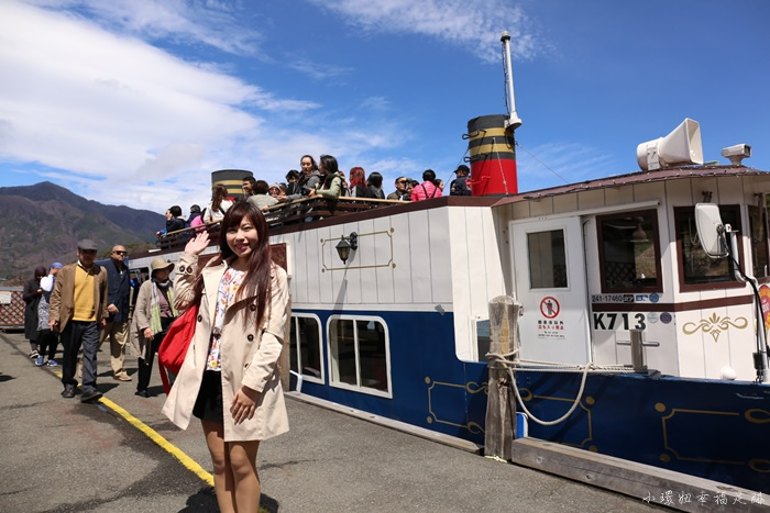 【河口湖自由行】河口湖遊覽船,看富士山的各種角度(23)