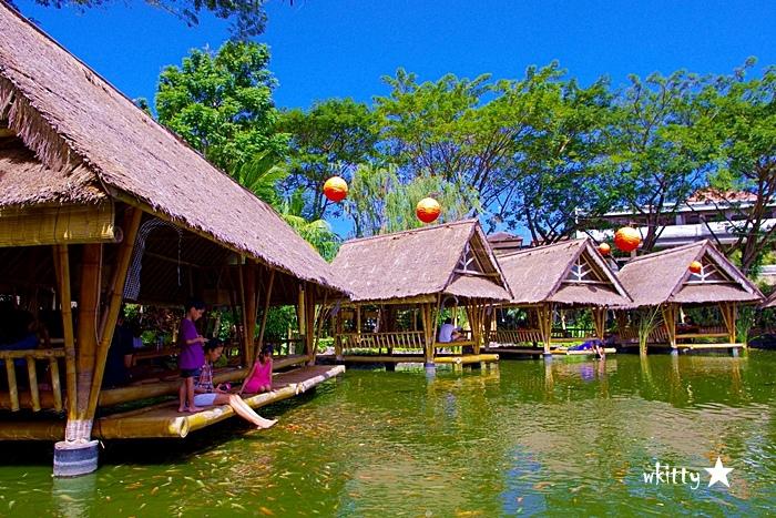 【峇里島必吃餐廳推薦(33)】Bale Udang 水上餐廳,食尚玩家介紹,風景超美的水上發呆亭!
