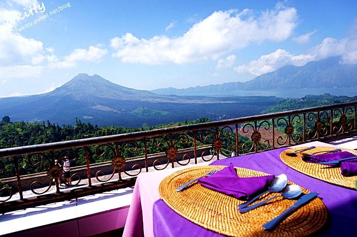 【峇里島景觀餐廳(28)】巴杜爾火山旁美景自助餐廳,Grand Puncak Sari 自助餐,金塔馬尼景觀台!
