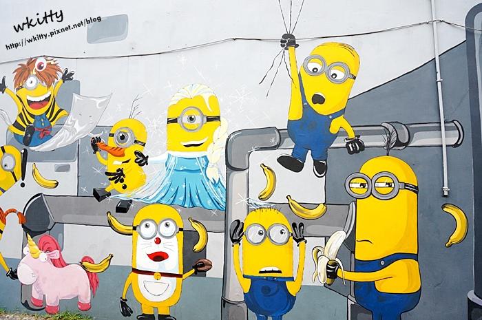 【桃園大溪新景點】小小兵彩繪牆,超夯的小小兵,不要跟他搶香蕉XD!
