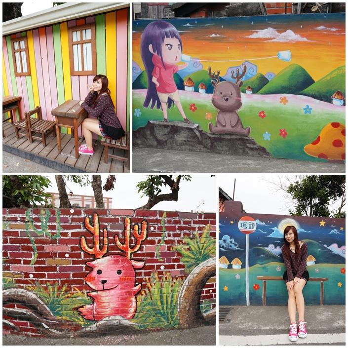 【雲林景點】崛頭社區小鹿彩繪村,來這邊和麋鹿一起等公車!