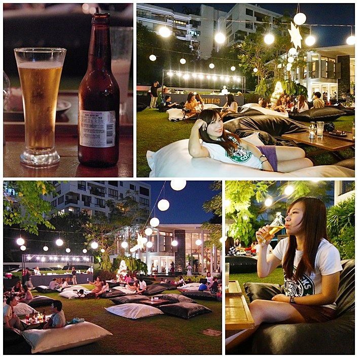 【曼谷(20)】Spring & Summer,躺在草地上看星星喝啤酒,泰愜意!(已停業) @小環妞 幸福足跡