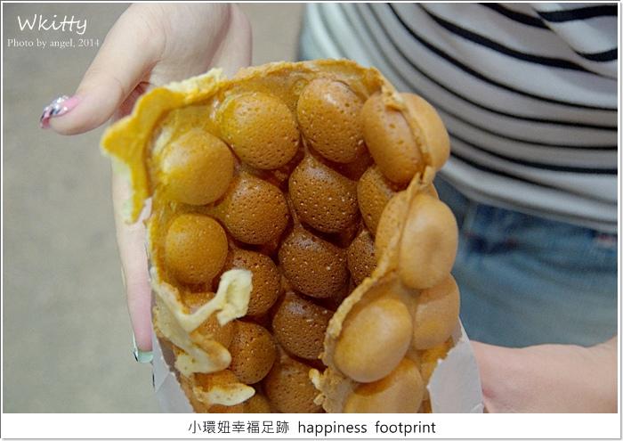 【香港三天兩夜2014(7)】利強記北角雞蛋仔*佐敦站,香港要吃喔,可惜烤太焦了…