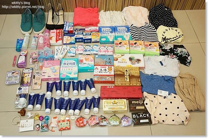 [關西京阪神奈自由行必買] 戰利品擺滿地超壯觀,購物花到日幣剩1元!(1) @小環妞 幸福足跡