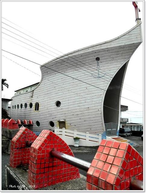 [台東景點]˙樟原教會 ♥ 看傻眼…諾亞方舟停在半山腰