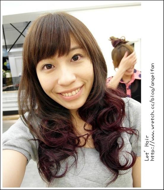 [髮型]當亞麻綠巧遇莓果紫紅♥♥~流行雙色染
