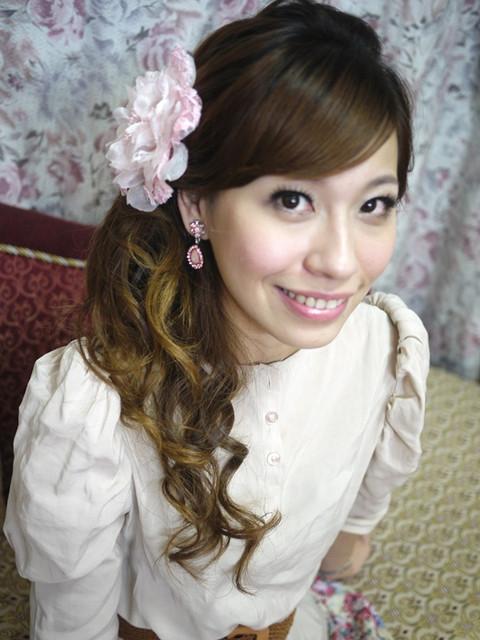 [♥囍♥]變身洋娃娃了。台北新秘試妝!!