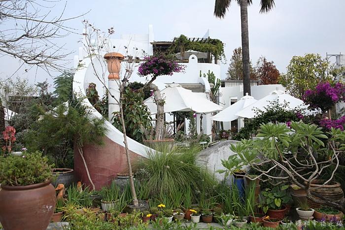 【彰化田尾景觀餐廳】綠海庭園咖啡館,綠意盎然中的白色小希臘 @小環妞 幸福足跡