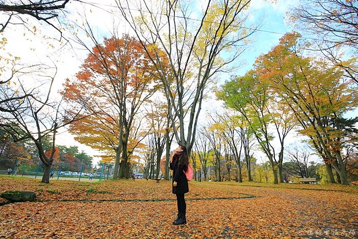 【弘前公園賞楓】弘前城,絕美的紅葉,紅到好不真實的楓葉.夜楓! @小環妞 幸福足跡