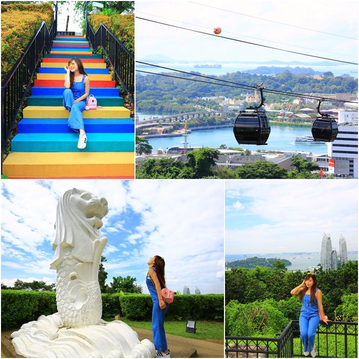 【新加坡景點】花柏山纜車.花柏山公園.小魚尾獅.踏青看景好去處
