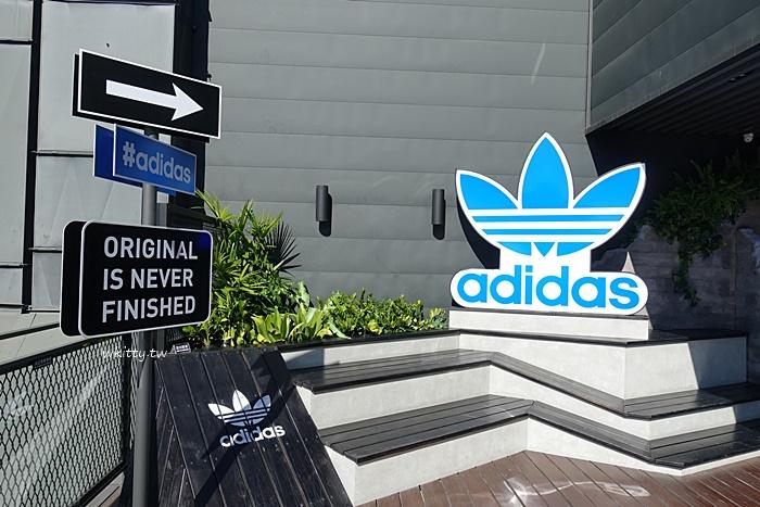 【台中adidas】愛迪達綠園道門市,顛倒籃球場,網美拍照打卡夯點 @小環妞 幸福足跡