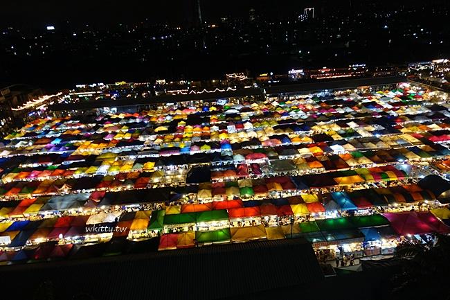 【曼谷拉差達火車夜市】夜拍超美!晚上景點市集,美食小吃一籮筐 @小環妞 幸福足跡