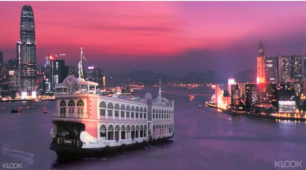 【香港遊船buffet推薦】洋紫荊維港遊,超豐盛自助晚餐,坐船看夜景 @小環妞 幸福足跡