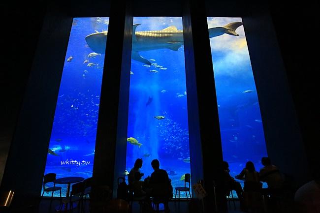 沖繩水族館-黑潮之海-咖啡廳-晚點入場比較不用排隊還可退錢 @小環妞 幸福足跡
