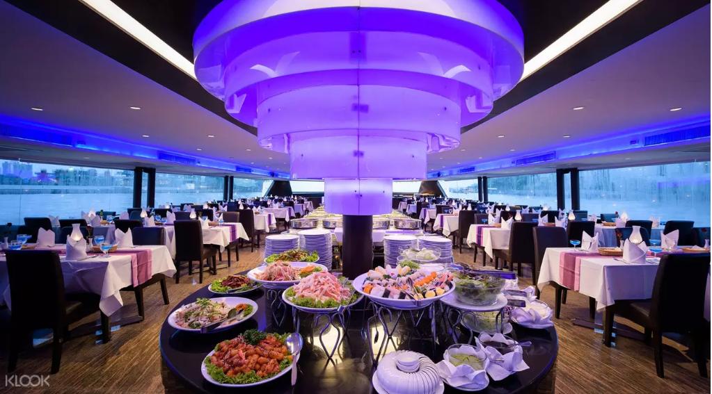 曼谷公主號-曼谷郵輪-昭披耶河Buffet自助餐吃到飽 @小環妞 幸福足跡