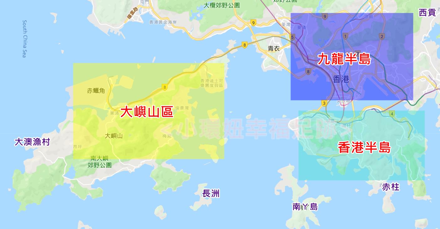 香港景點地圖-香港自由行必備行程-必去景點懶人包 @小環妞 幸福足跡