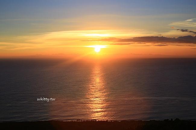 【墾丁關山日落】關山必去的看夕陽景點,夕照美景暈染整個海洋 @小環妞 幸福足跡
