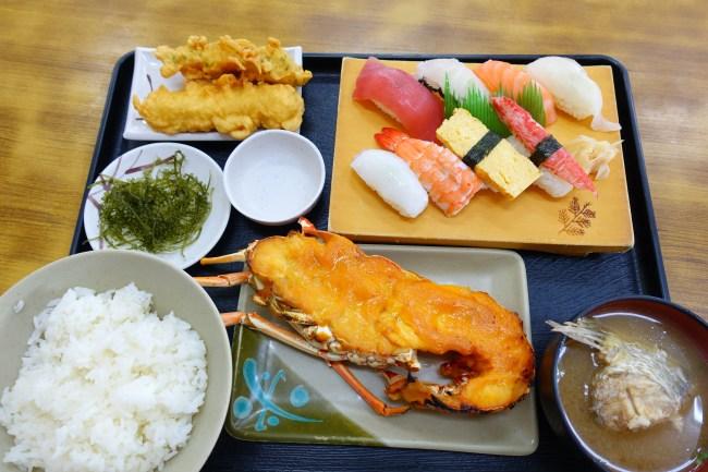 沖繩魚市場-泡瀨漁港食堂-必點龍蝦美乃滋-最新食記分享 @小環妞 幸福足跡
