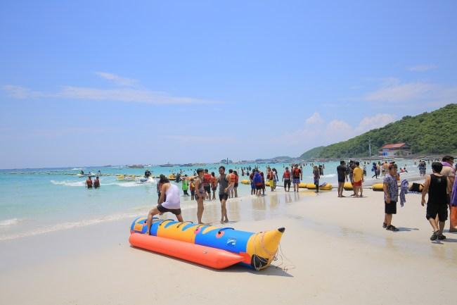 格蘭島水上活動-泰國芭達雅玩水-浮潛,香蕉船,海底漫步超好玩 @小環妞 幸福足跡