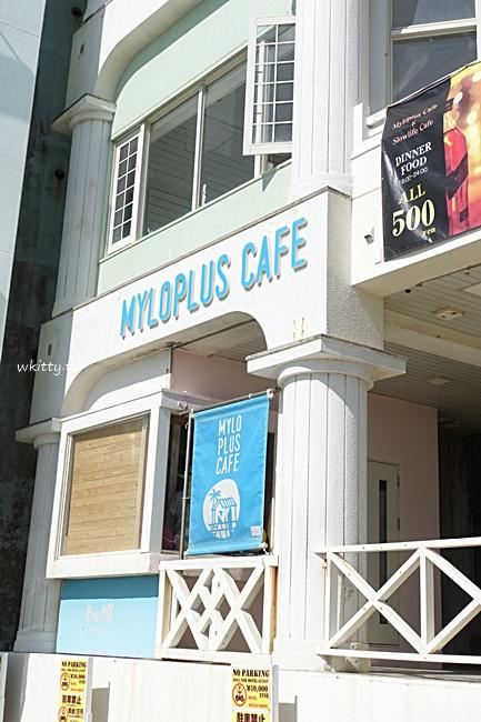 【沖繩海景咖啡廳】Myloplus cafe咖啡館,一覽無遺的蔚藍海岸美景 @小環妞 幸福足跡