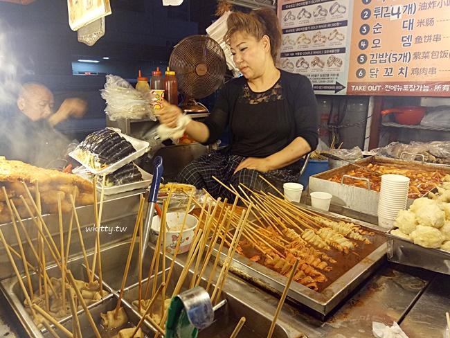 【首爾弘大路邊攤】紅包車小吃,體驗韓劇場景,宵夜美食樣樣都好吃 @小環妞 幸福足跡