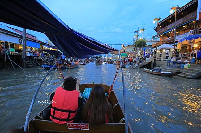 【曼谷水上市場一日遊】美功鐵道市場,安帕瓦水上市場,樹中廟,泰式餐廳,螢火蟲 @小環妞 幸福足跡