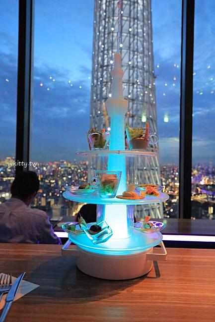 【晴空塔夜景餐廳】天空Lounge Top of Tree,晴空塔超大就在眼前! @小環妞 幸福足跡