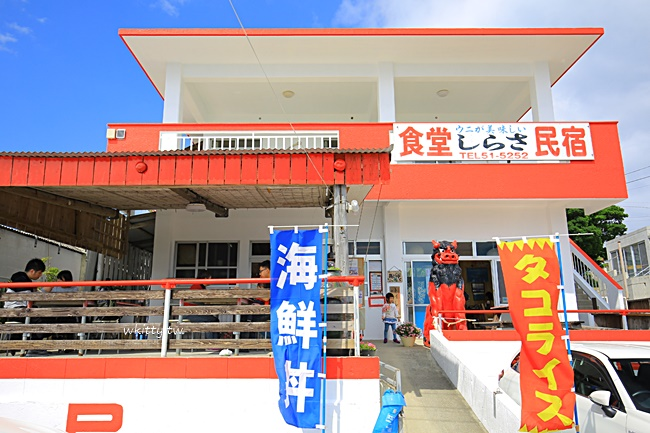 【沖繩海膽飯】古宇利-しらさ食堂,海膽蓋飯滿到幾乎看不見白飯 @小環妞 幸福足跡