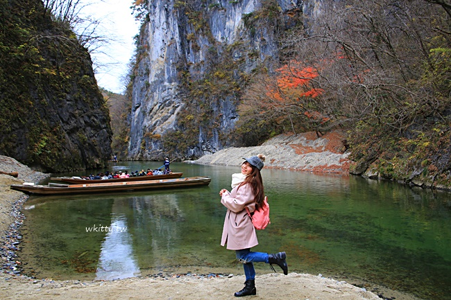 【日本岩手旅遊】猊鼻溪輕舟遊船,一葉扁舟於蕭瑟山谷間,淒美絕景 @小環妞 幸福足跡