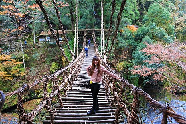 【四國德島景點】祖谷葛藤橋,山谷中的夢幻秘境,很刺激的藤橋! @小環妞 幸福足跡