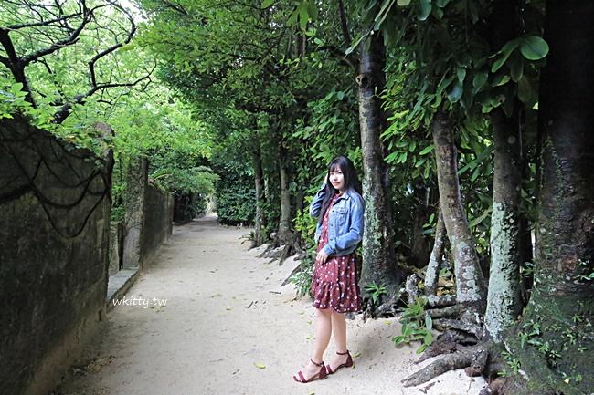 【沖繩北部景點】備瀨福木林道,一路走到備瀨崎海灘,散步地圖 @小環妞 幸福足跡