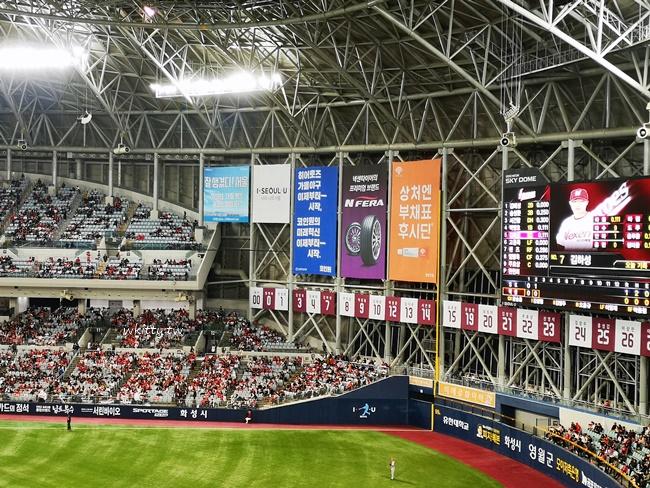 【韓國職棒高尺巨蛋球場】KBO韓職現場初體驗,耐克森英雄加油 @小環妞 幸福足跡