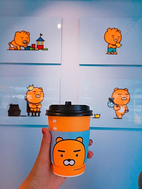 【韓國首爾Kakao Friends】弘大旗艦店,超萌Ryan坐檯,3樓喝咖啡 @小環妞 幸福足跡