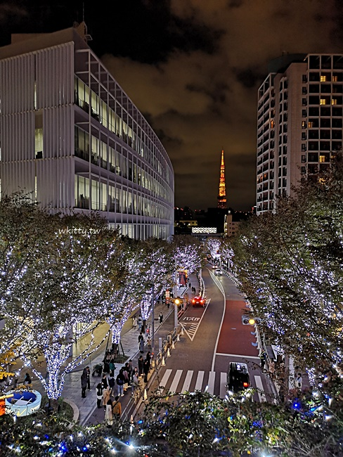 【六本木聖誕點燈】櫸樹板大道夜景,東京鐵塔搭配漂亮燈飾經典圖 @小環妞 幸福足跡
