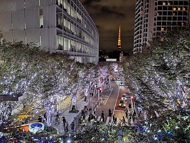 東京過聖誕節-六本木hills-2018點燈燈飾-六本木櫸樹坂大道夜景 @小環妞 幸福足跡