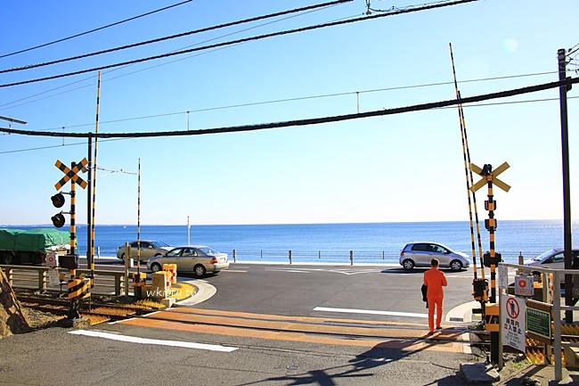 【日本鎌倉】灌籃高手平交道,櫻木晴子相遇的鐵路場景,超夯景點! @小環妞 幸福足跡