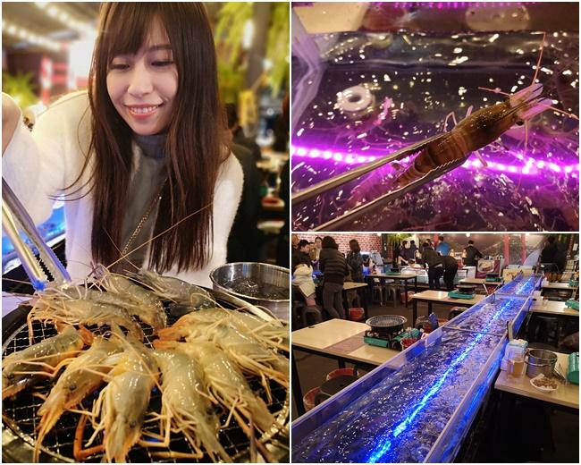 【台中流水蝦吃到飽】泰夯蝦,浮誇LED水道,泰國蝦活繃亂跳(有影) @小環妞 幸福足跡