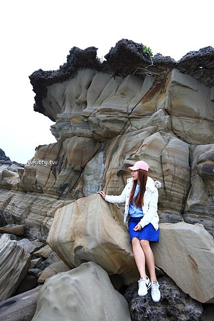 【台東市海邊景點】小野柳風景區,台東免費景點,看海岸線奇岩異石 @小環妞 幸福足跡