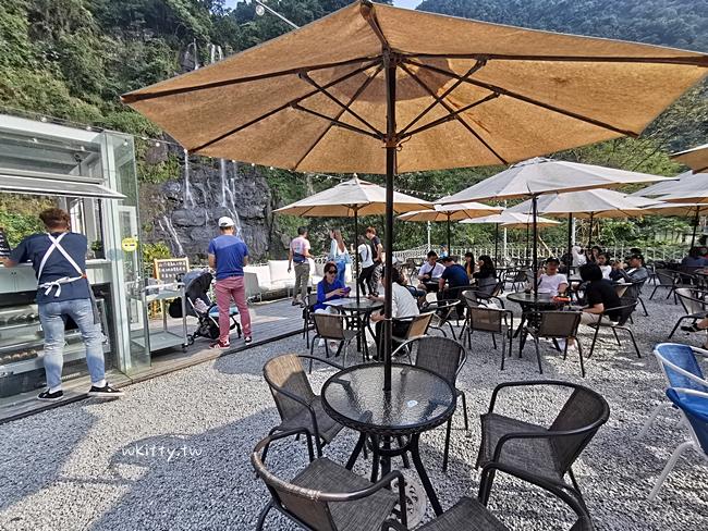 【烏來景觀餐廳】瀑布3號咖啡餐廳,IG爆紅的沙發瀑布照就在這裡! @小環妞 幸福足跡