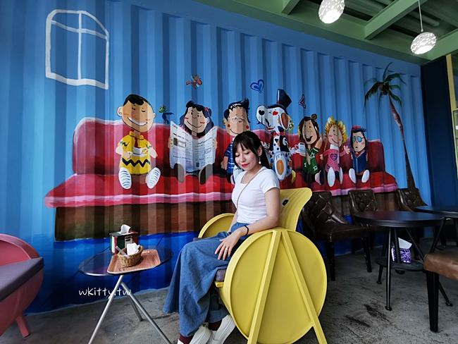 【花蓮景觀餐廳】PONY CAFE咖啡廳,夢幻天梯,粉紅貨櫃屋網美景點 @小環妞 幸福足跡