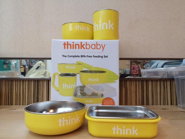 【超夯寶寶餐具組】thinkbaby無毒不鏽鋼碗盤,可放進電鍋,育兒必備 @小環妞 幸福足跡