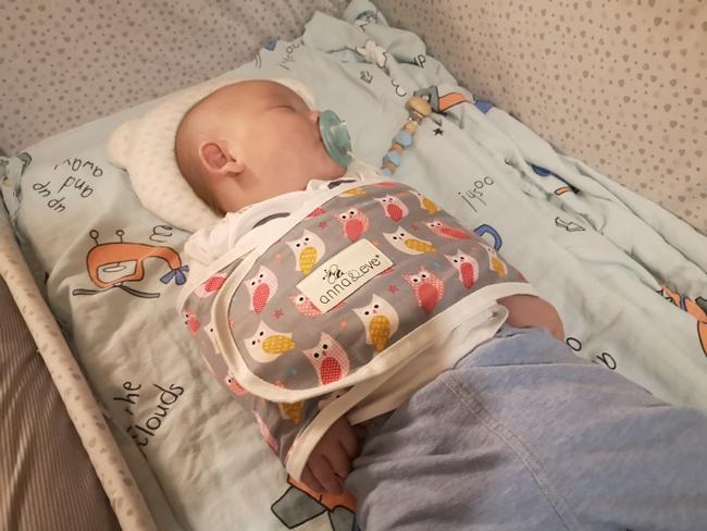 【嬰兒睡過夜神器】Anna&Eve新生兒防驚跳包巾,寶寶睡眠品質大提升 @小環妞 幸福足跡