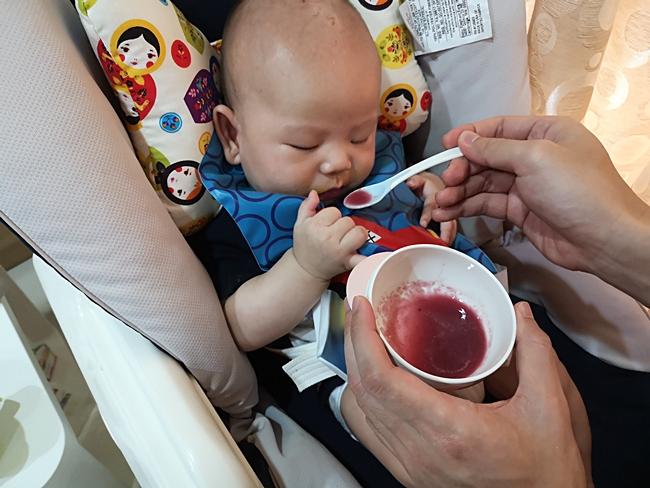 【寶寶副食品水果】葡萄泥,酸甜味衝擊寶寶味蕾,還可以放進咬咬樂 @小環妞 幸福足跡