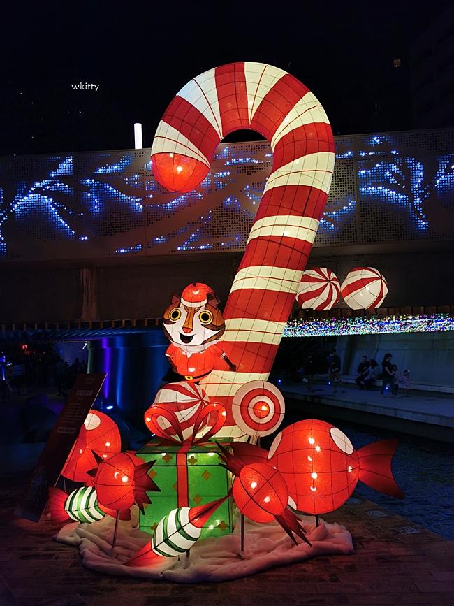 【2020柳川聖誕點燈水舞秀】台中好YA誕活動,夢幻七彩燈毯,絕美不輸國外水舞秀,逛遊攻略包 @小環妞 幸福足跡