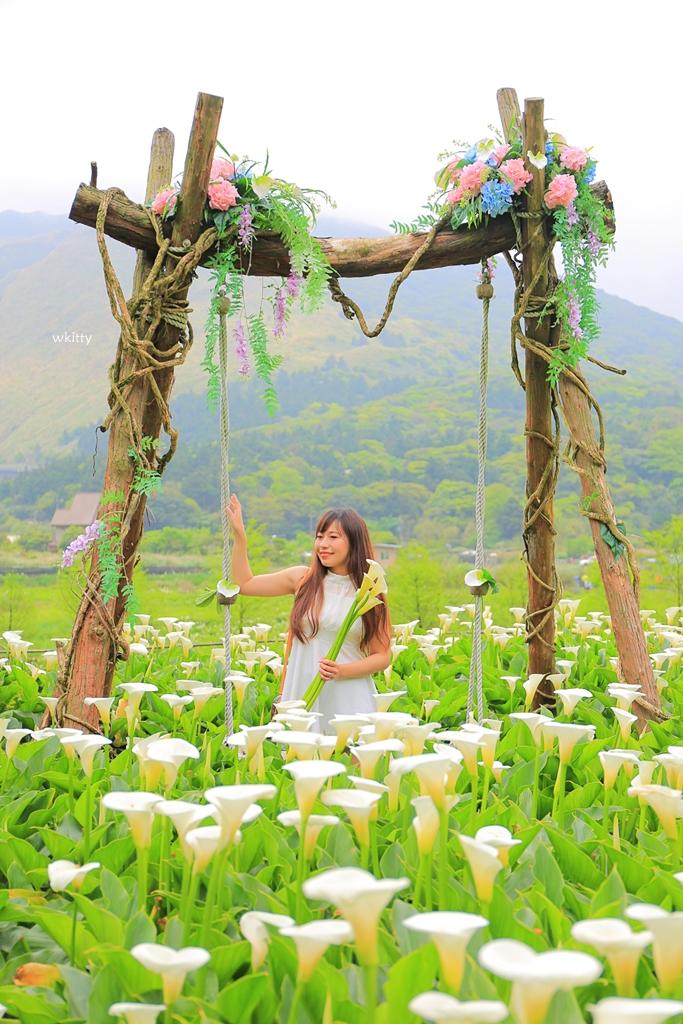 【2021陽明山海芋季】名陽匍休閒農莊,浪漫海芋田中的歐風小木屋,網美好拍景點 @小環妞 幸福足跡